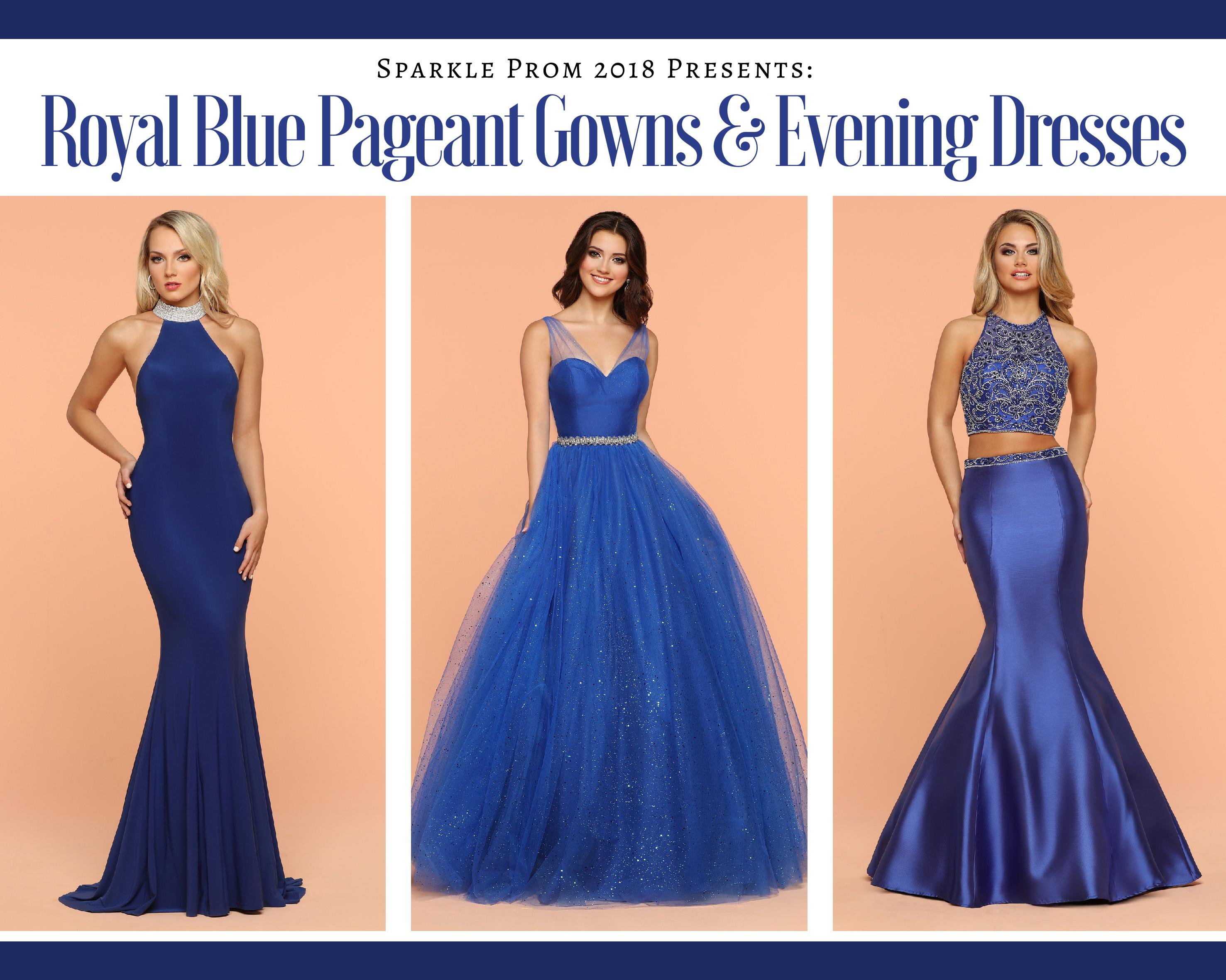 Pageant Gowns & Long Evening Dresses in Royal Blue