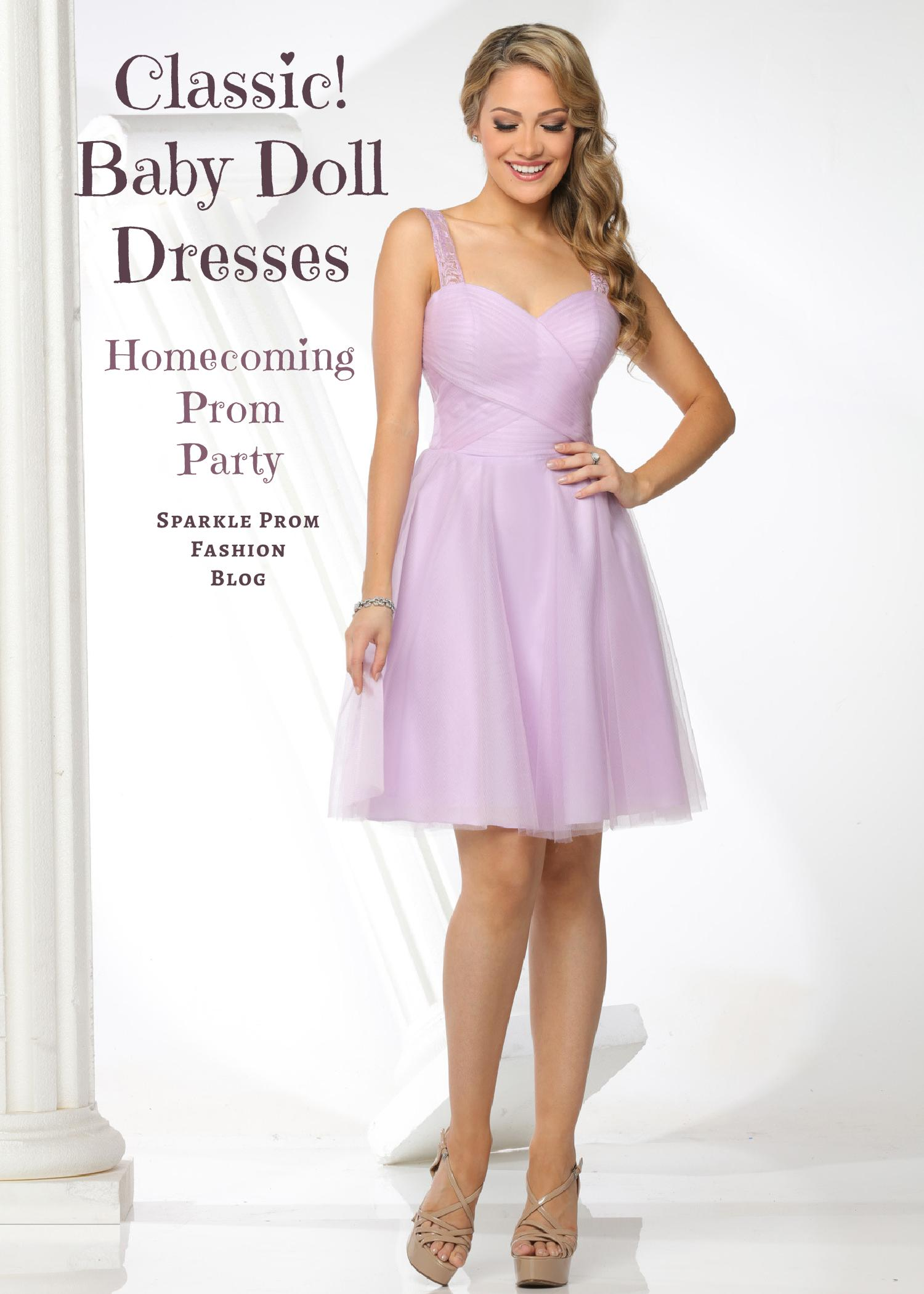 Babydoll Homecoming, Prom & Party Dresses – Sparkle Prom Fashion Blog