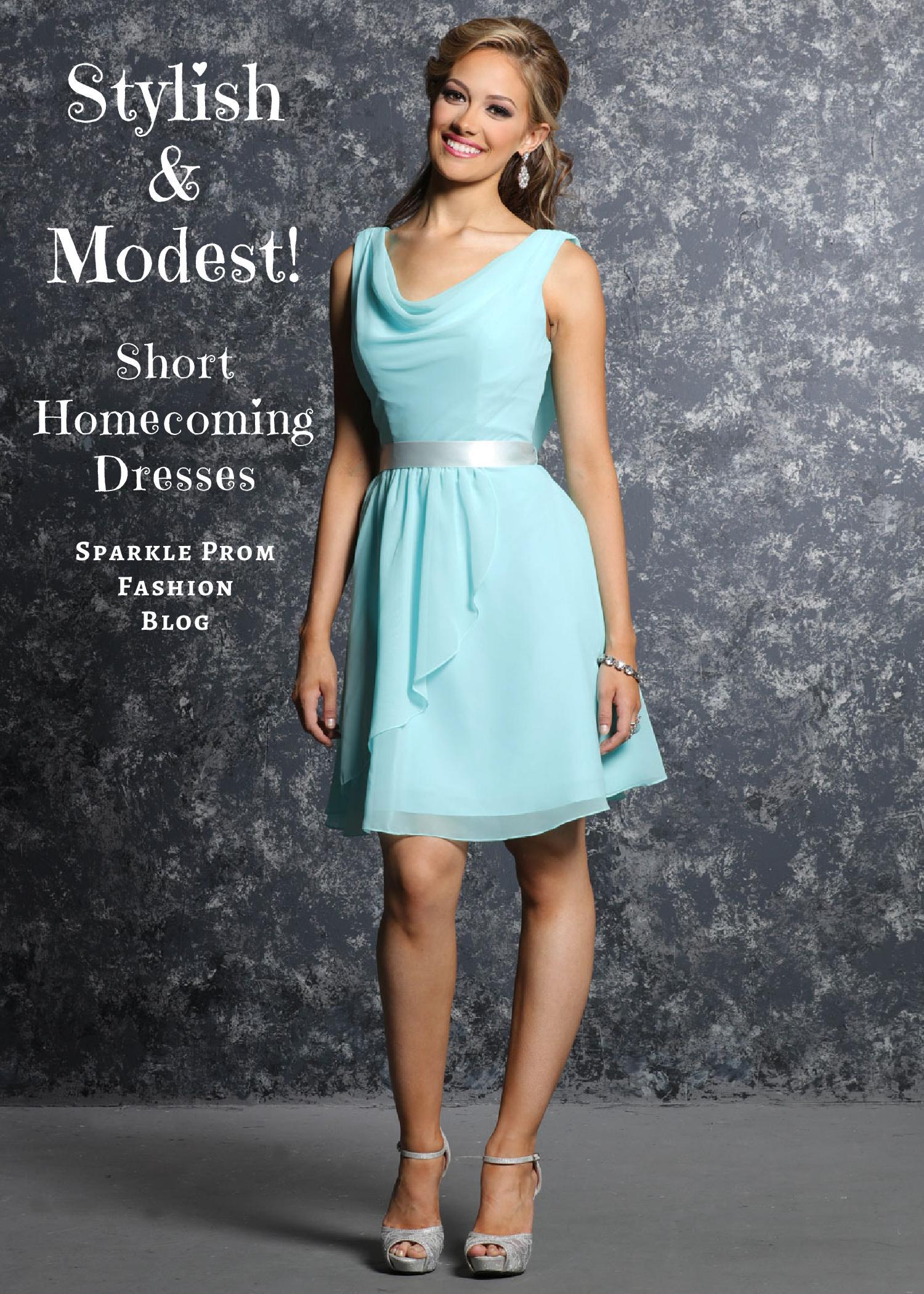 Stylish Modest Short Homecoming Dresses – Sparkle Prom Fashion Blog
