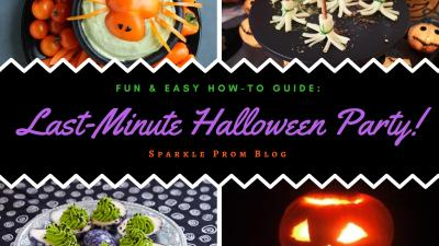 Fun & Easy Last-Minute Halloween Party How-to Guide – Sparkle Prom Blog