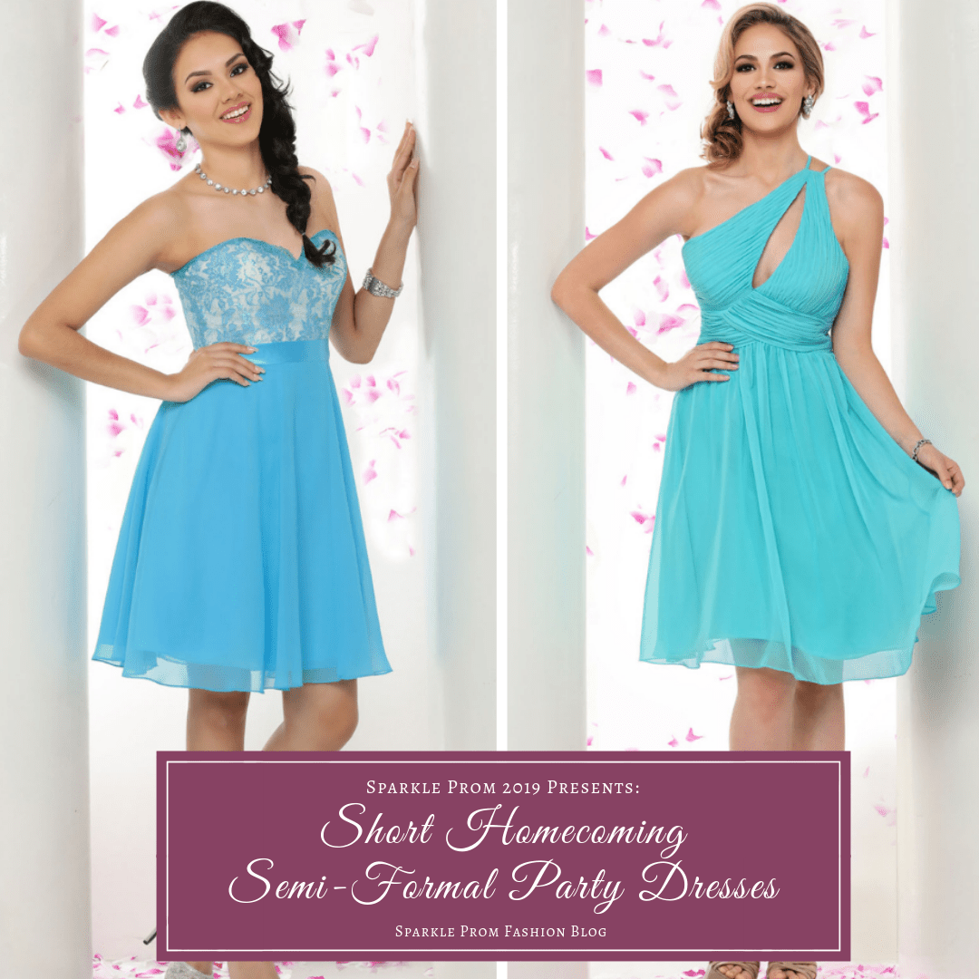 Short Homecoming & Semi-Formal Party Dresses for 2019 – Sparkle Prom Fashion Blog