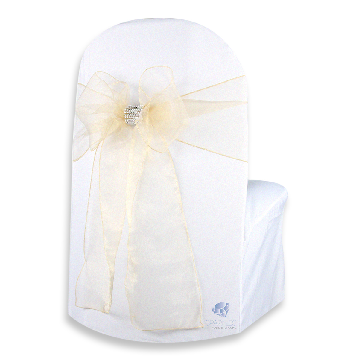 Champagne Chair Covers Details About 200 Pcs Organza Chair Cover Bow Sash 108
