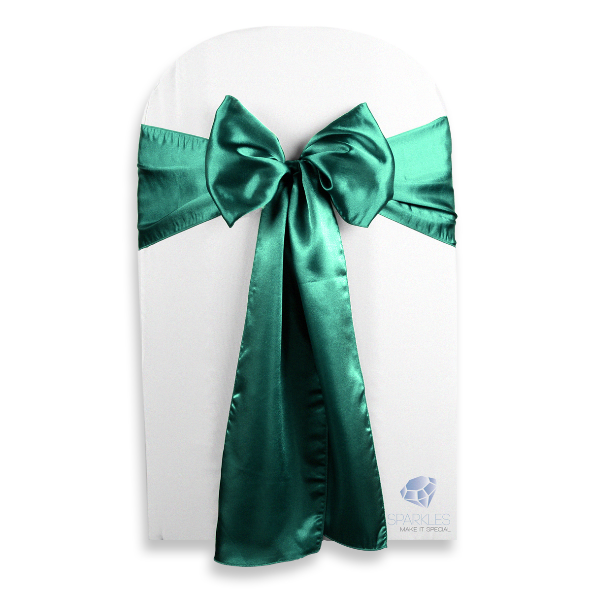 Green Chair Covers 10 Pcs Satin Chair Cover Bow Sash 108 Quotx8 Quot Emerald Green