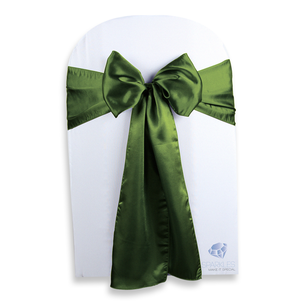 Green Chair Covers 200 Pcs Satin Chair Cover Bow Sash 108 Quotx8 Quot Sage Green