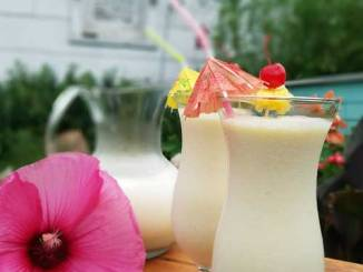 Recipe for Pina Colada Whip - Beat the heat with this frozen tropical cocktail. Coconut, pineapple, and rum create a tasty drink that is great all summer long.