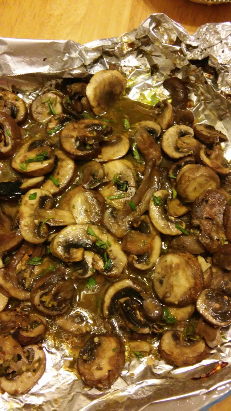 Healthy Grilled Mushrooms