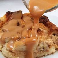 Salted Caramel Banana Bread Pudding