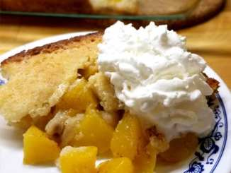 Quick Peach Cobbler - Doesn't get any easier. Luscious velvety peaches, all sweet and juicy, just want to be in an easy cobbler. We just let them do their job in this recipe.