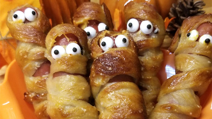 Pretzel Mummy Dogs