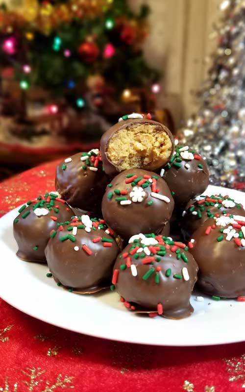 Chocolate Peanut Butter Crispy Balls