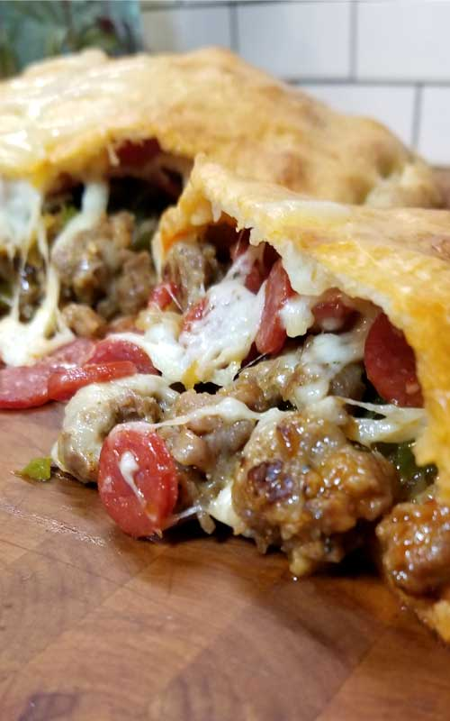 Meat Lovers Gameday Calzone
