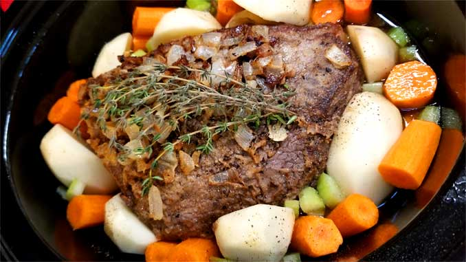 Fancy Yankee Pot Roast - Crock Pot