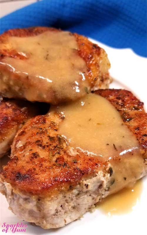 Pork Chops in Creamy Wine Sauce