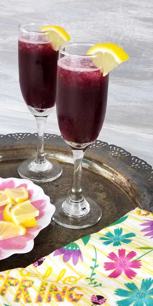 Blueberry Lemonade Bellini