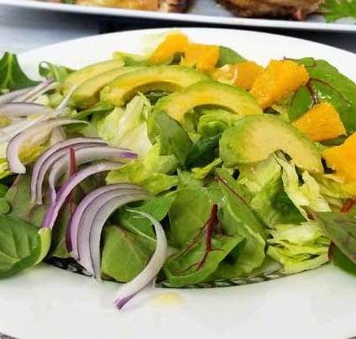 Cuban Avocado Citrus Salad with Honey Lemon Dressing