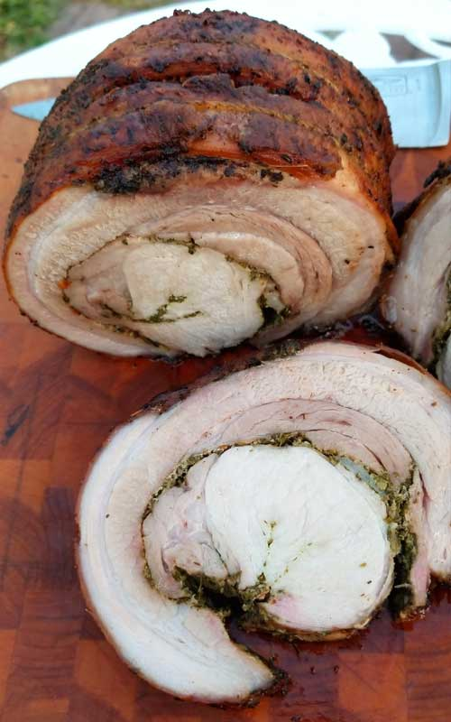 Porchetta, or porketta if that is what you prefer, is the pork lovers paradise. You get a crispy crackling outer layer, with the ultimate juicy and tender porky goodness all the way through.