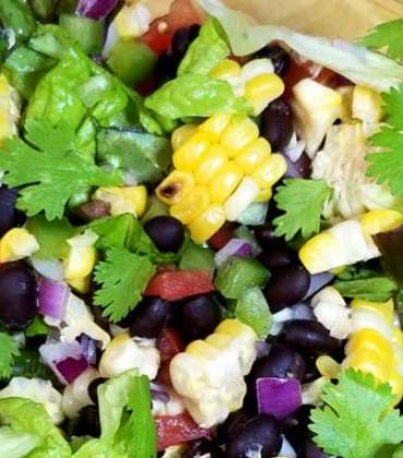 Southwest Corn Salad with Honey Lime Dressing
