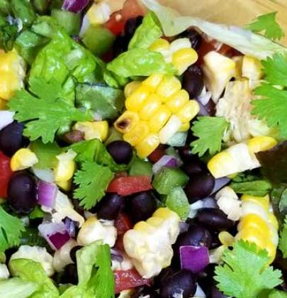 Southwest Corn Salad with Honey Lime Dressing