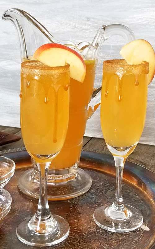 Caramel Apple Cider Mimosa