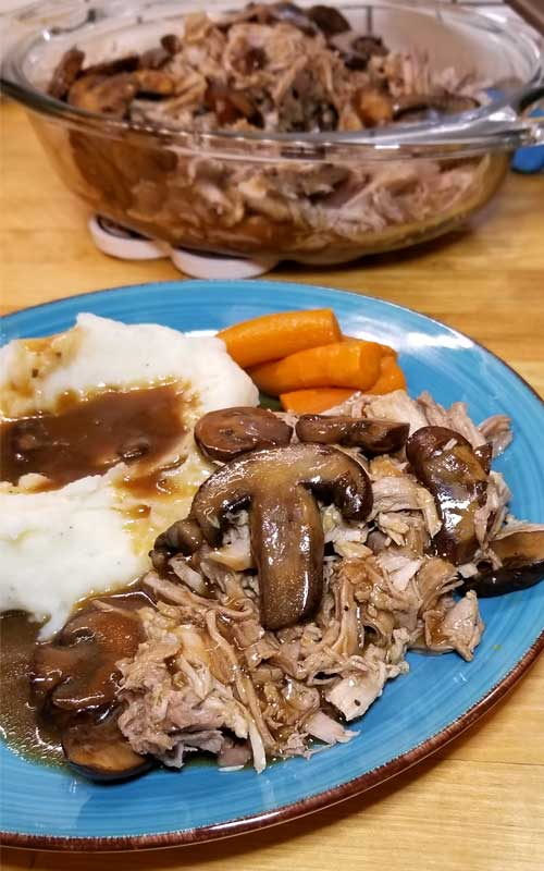 This Instant Pot Pork Loin with a Sweet Balsamic Mushroom Sauce is so full of flavor, tender and juicy it's become one of our family favorites!