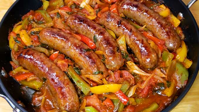 Quick, easy and delicious one skillet dinner! This recipe forItalian Sausage Peppers and Onions is so versatile. You can have it over mashed potatoes, pasta, polenta, cauliflower rice, or as an Italian sub sandwich.