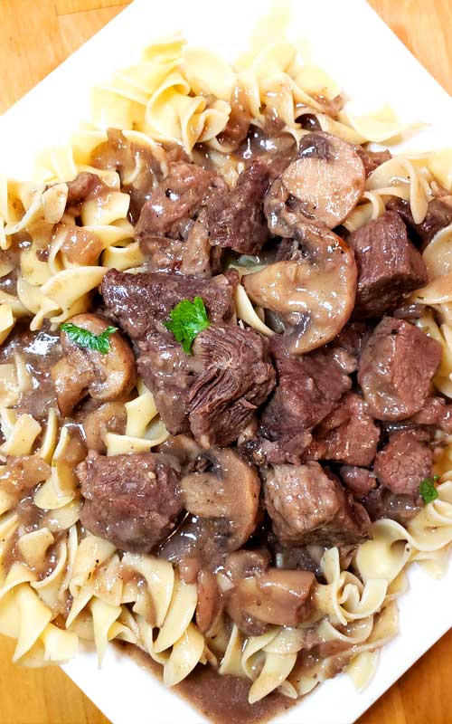 Garlic Butter Beef Tips and Mushroom Gravy