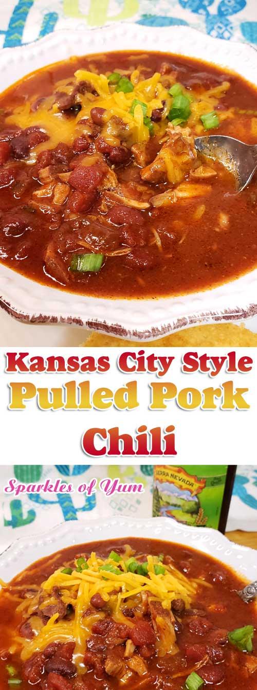 Kansas City Style Pulled Pork Chili