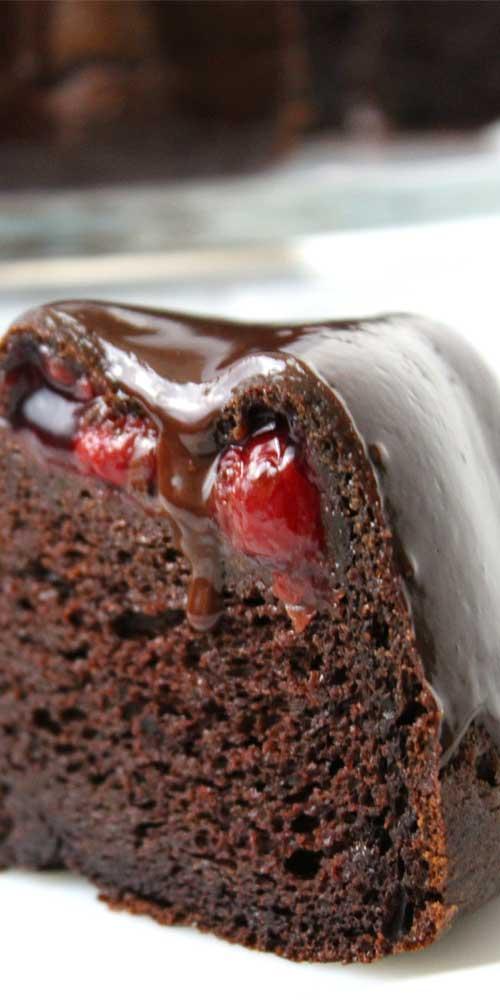 Chocolate Covered Cherry Bundt Cake