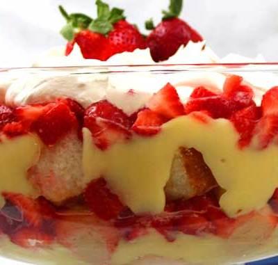 Strawberry Banana Trifle