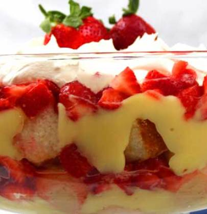 Strawberry Banana Trifle