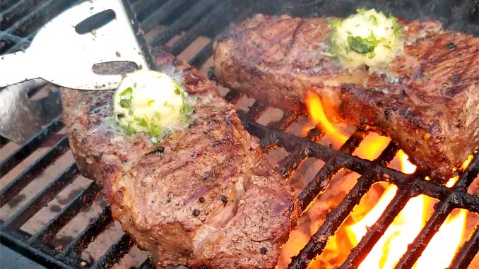 These Grilled Rib-Eye Steaks with Roasted Garlic Herb Butter are the most spectacular, melt in your mouth, grilled perfection you could ever ask for!