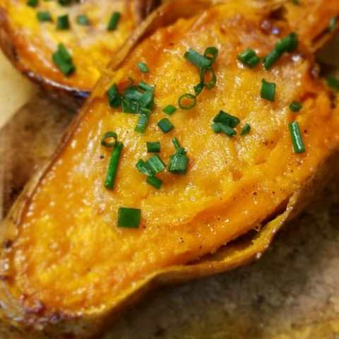 Baked Sweet Potato Halves