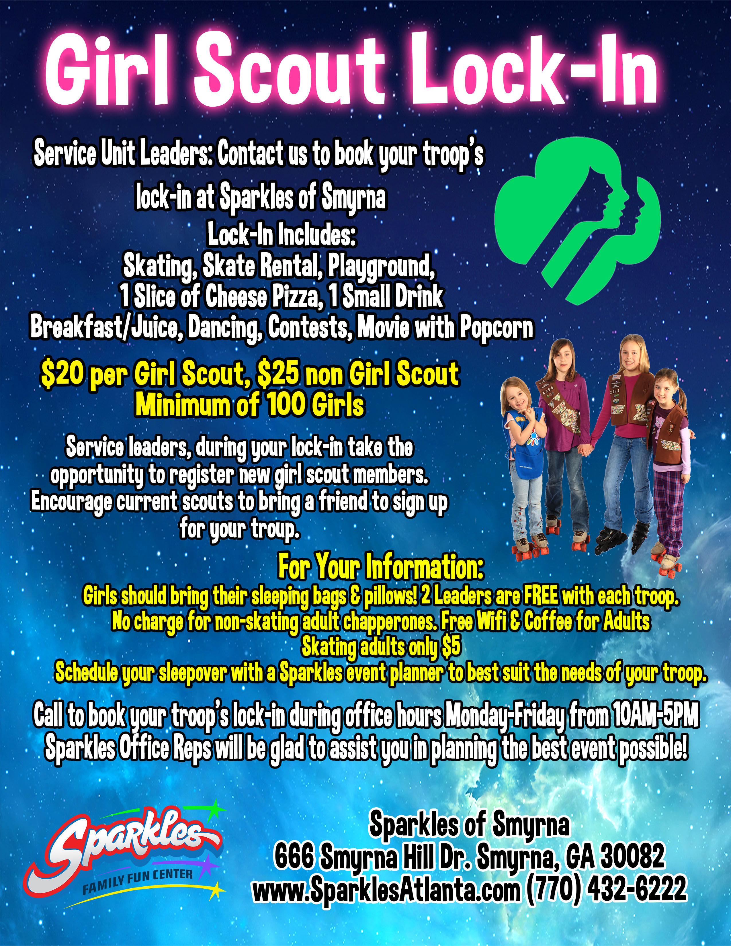 Girl Scout Lockin Flyer
