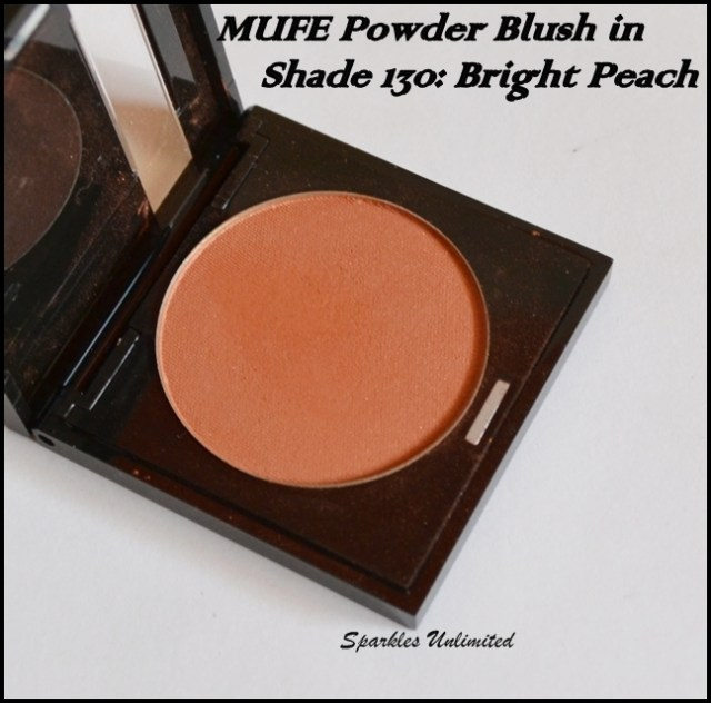 Make Up For Ever/ MUFE Powder Blush in Shade 130, Bright Peach: Review, Swatches & Pics