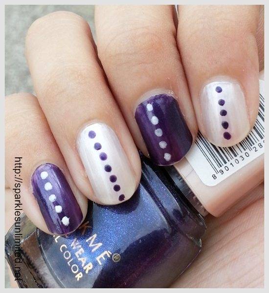 Chic and super easy nail art in purple white well prinsesfo Images