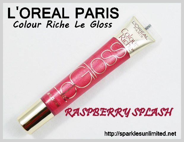 L'Oreal Paris Colour Riche Le Gloss 153 RASPBERRY SPLASH,L'Oreal Paris Colour Riche Le Gloss 153 RASPBERRY SPLASH Review,L'Oreal Paris Colour Riche Le Gloss 153 RASPBERRY SPLASH Swatches,L'Oreal Paris Colour Riche Le Gloss ,L'Oreal Paris Colour Riche Le Gloss Review,L'Oreal Paris Colour Riche Le Gloss Swatches, L'Oreal Paris India, L'Oreal Paris, L'Oreal Paris Cosmetics