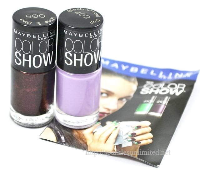 Maybelline Color Show Nail Polish 402BLACKCURRANT and 005 WINE & DINE,Maybelline Color Show Nail Polish 402BLACKCURRANT and 005 WINE & DINE Review,Maybelline Color Show Nail Polish 402BLACKCURRANT and 005 WINE & DINE Swatches, Maybelline Color Show Nail Polish,Maybelline Color Show Nail Polish Review,Maybelline Color Show Nail Polish Swatches, Maybelline NewYork India, Maybelline