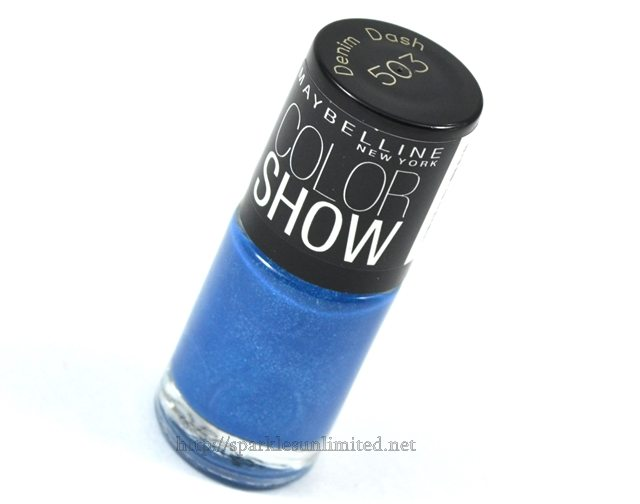 Maybelline Colour Show Nail Enamel 503 DENIM DASH, Maybelline Colour Show Nail Enamel 503 DENIM DASH REVIEW,Maybelline Colour Show Nail Enamel 503 DENIM DASH swatches, Maybelline Colour Show Nail Enamel ,Maybelline Colour Show Nail Enamel Review,Maybelline Colour Show Nail Enamel Swatches, Maybelline India
