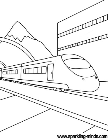 train coloring pages # 57