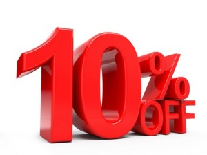10% off your next bill