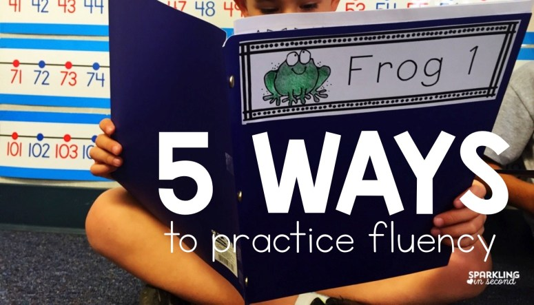 Teaching student to be fluent readers can be tough. Here are 5 fluency activities to engage your students in fluency practices in fun ways!