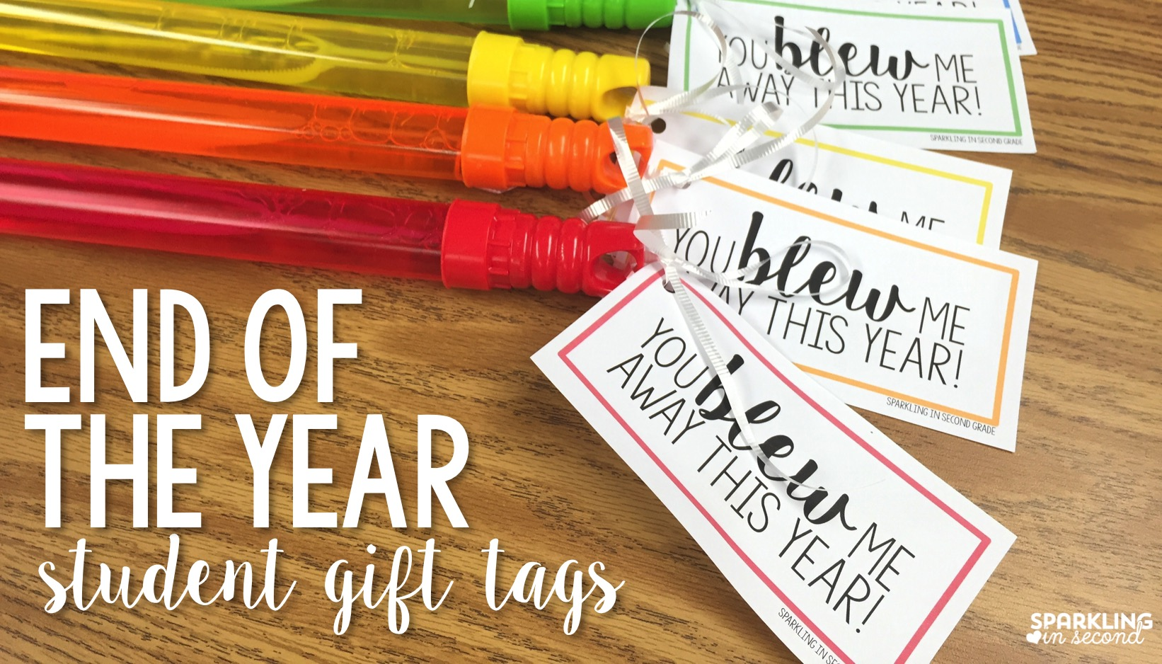 End Of Year T Bubble Tags