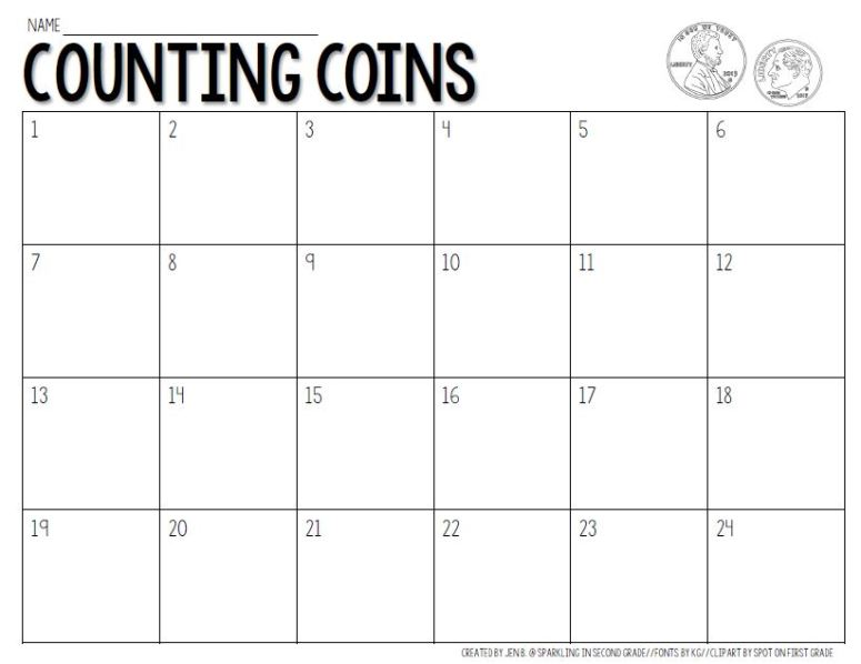 Hands on math activities for easy centers. This center is for counting coins!