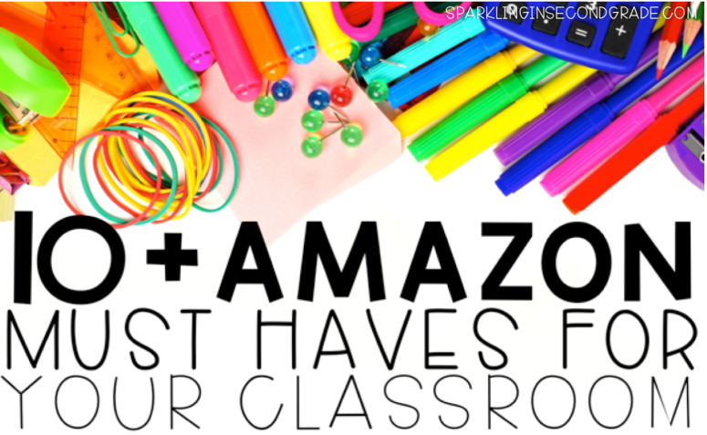 Teachers love Amazon! Here are a few teacher must-haves that you can find on Amazon for organizing any classroom!