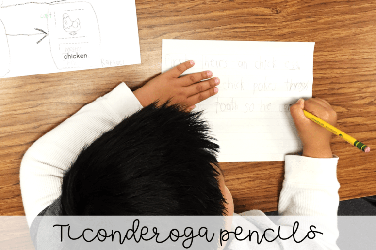 Teachers love Amazon! Here are a few teacher must-haves that you can find on Amazon for organizing any classroom! Beginner Ticonderoga pencils are perfect for early writers.