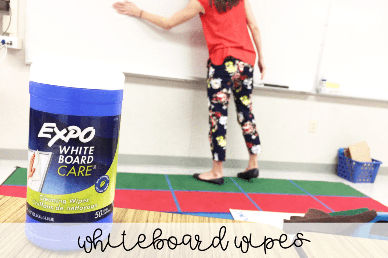Teachers love Amazon! Here are a few teacher must-haves that you can find on Amazon for organizing any classroom! You probably haven't seen your whiteboard as clean as it can be with these wipes!