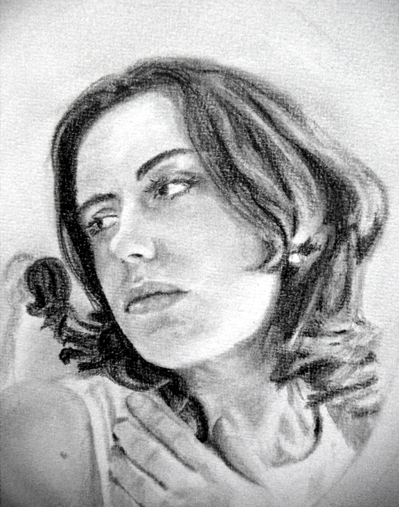reflective mind - a pencil portrait