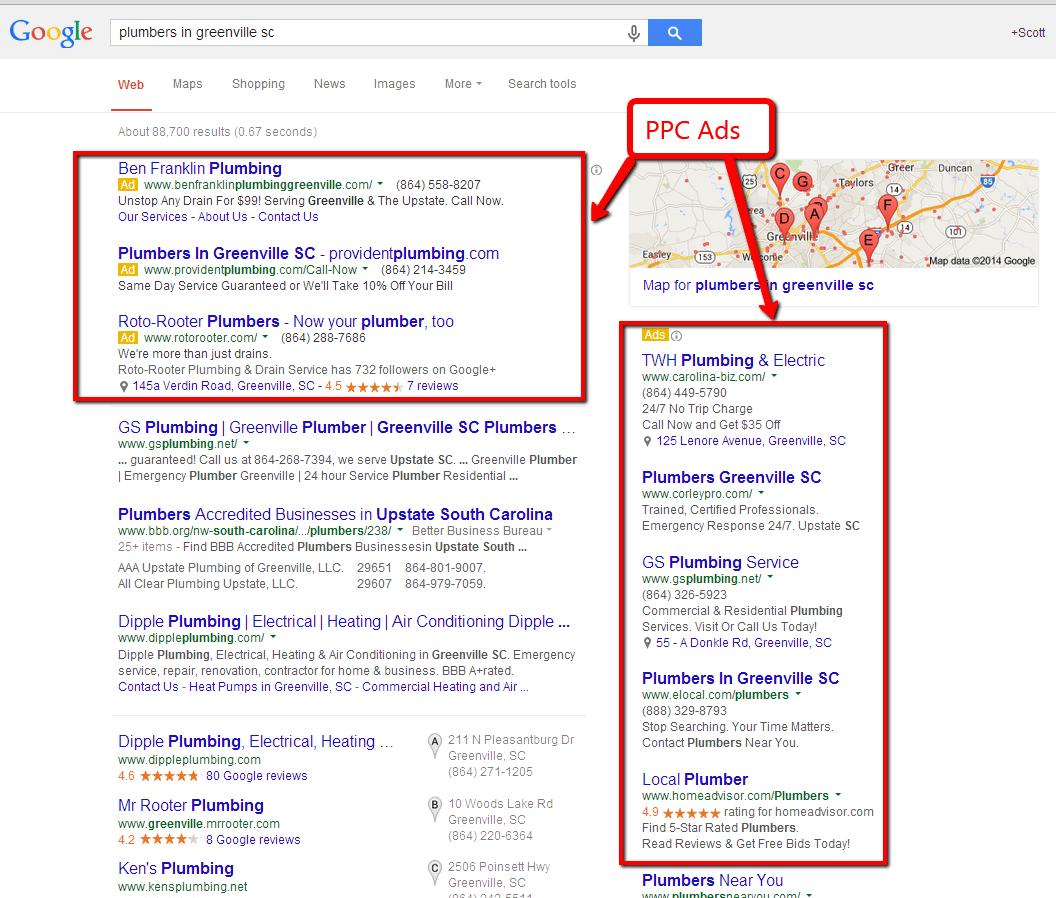 Pay Per Click Advertising - Greenville, SC
