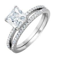Sterling Silver Wedding Ring Set - staruptalent.com