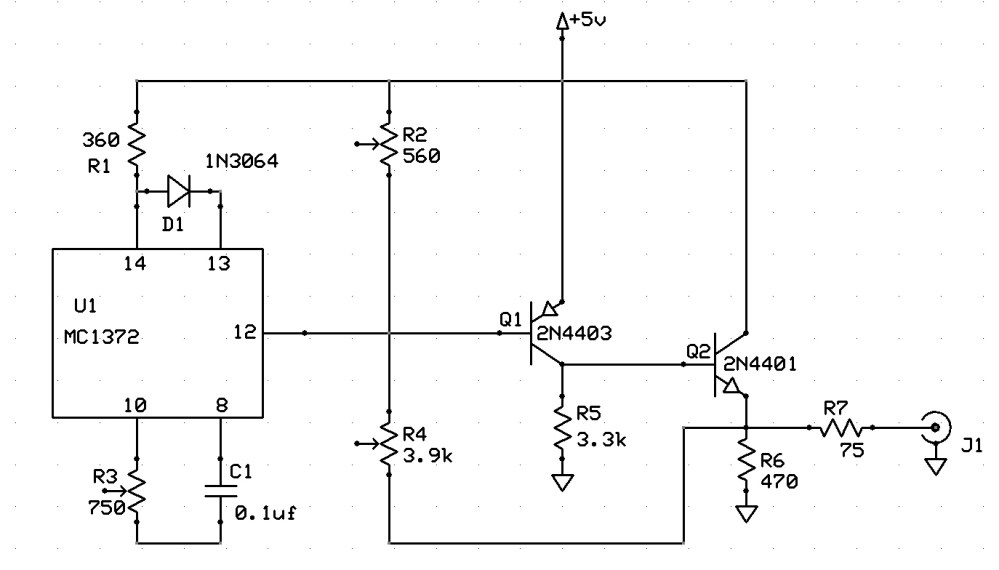 medium resolution of 6847 composite video schematic